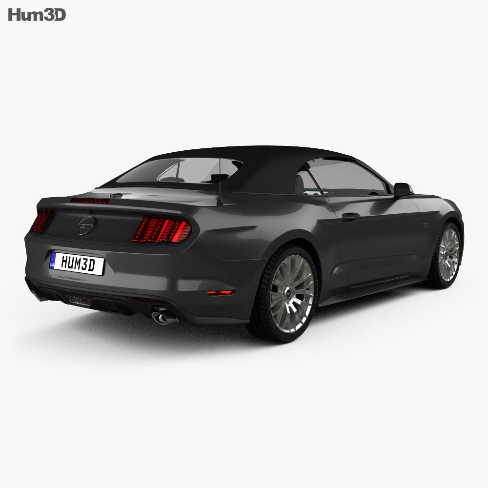 Ford Mustang GT EU-spec convertible 2015 3d model