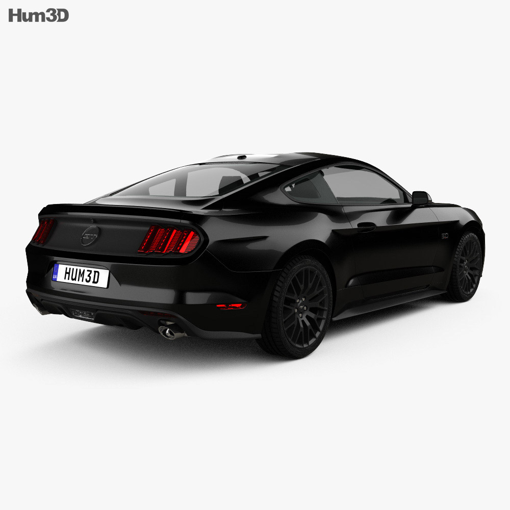Ford Mustang GT EU-spec fastback 2015 3d model