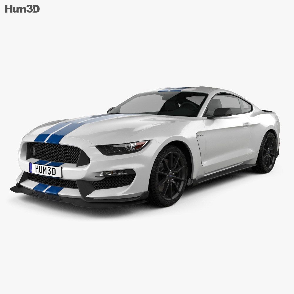 Fantastic Ford Mustang Shelby GT350 2015 3D Model  Hum3D