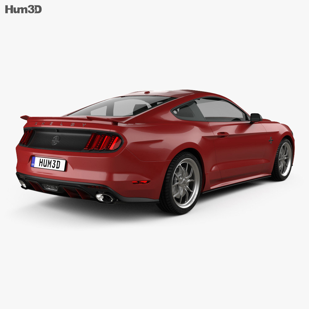 Ford Mustang Shelby Super Snake 2015 3d model