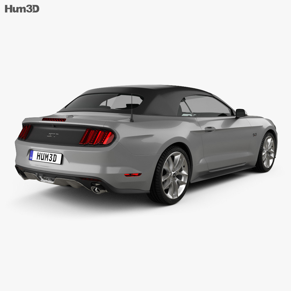Ford Mustang convertible 2015 3d model