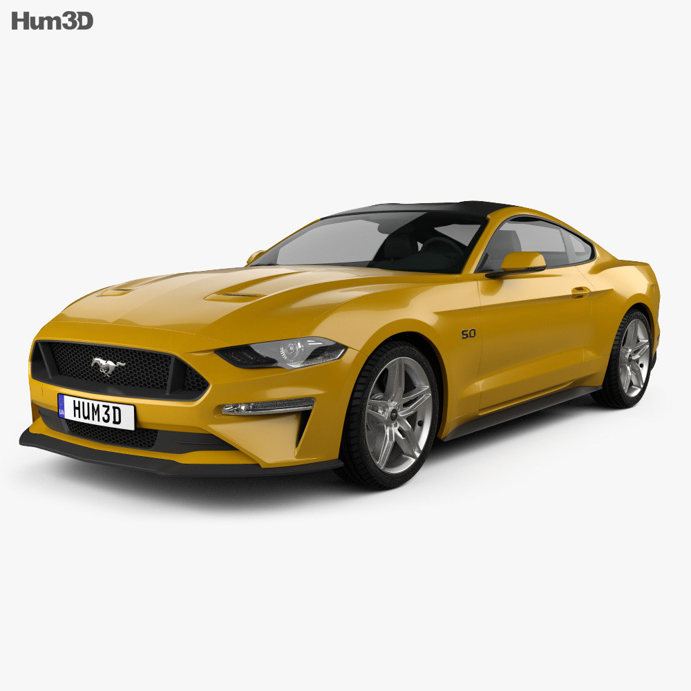 Ford mustang gt eu spec coupe 2018 3d model
