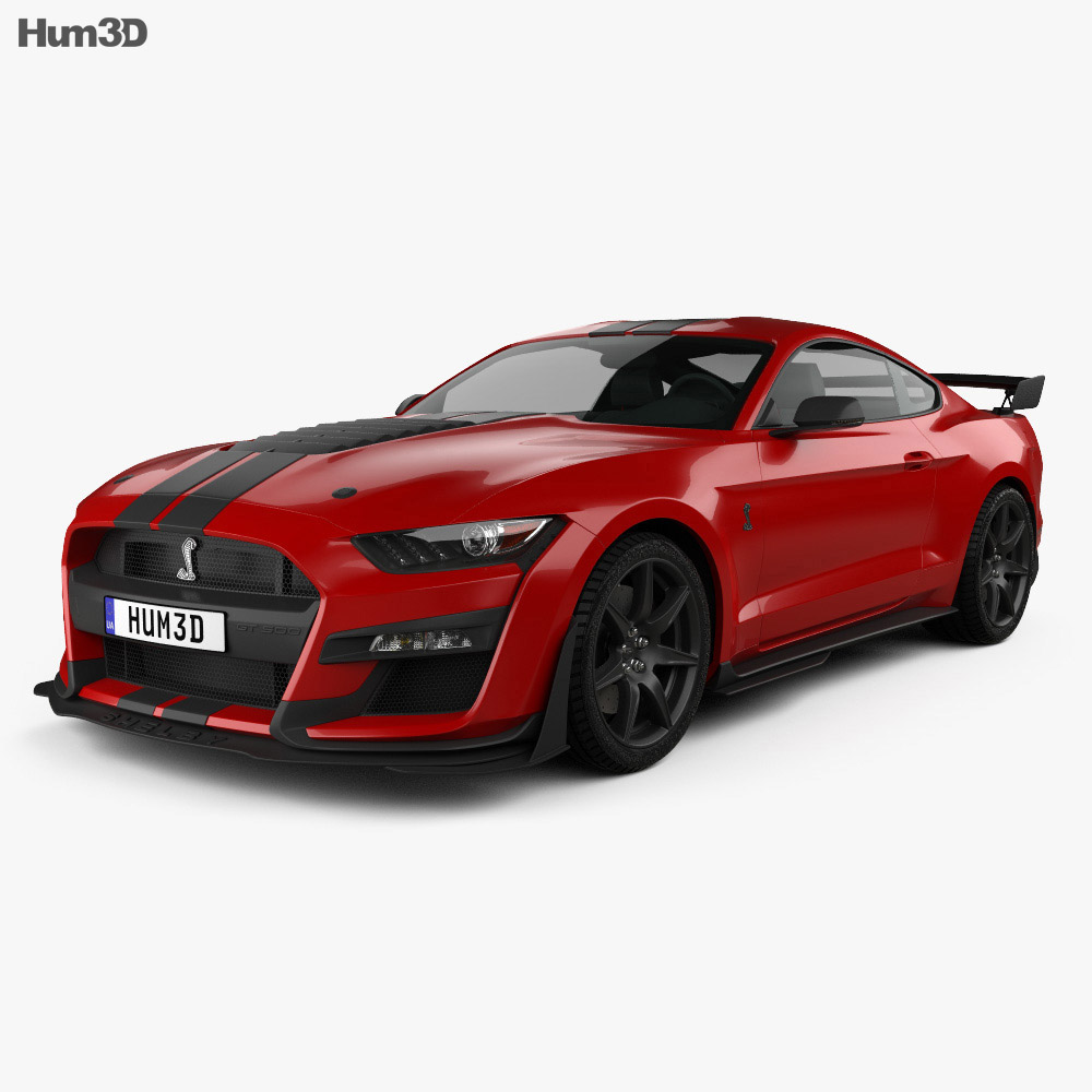 Ford Mustang Shelby GT500 coupe 2020 3d model