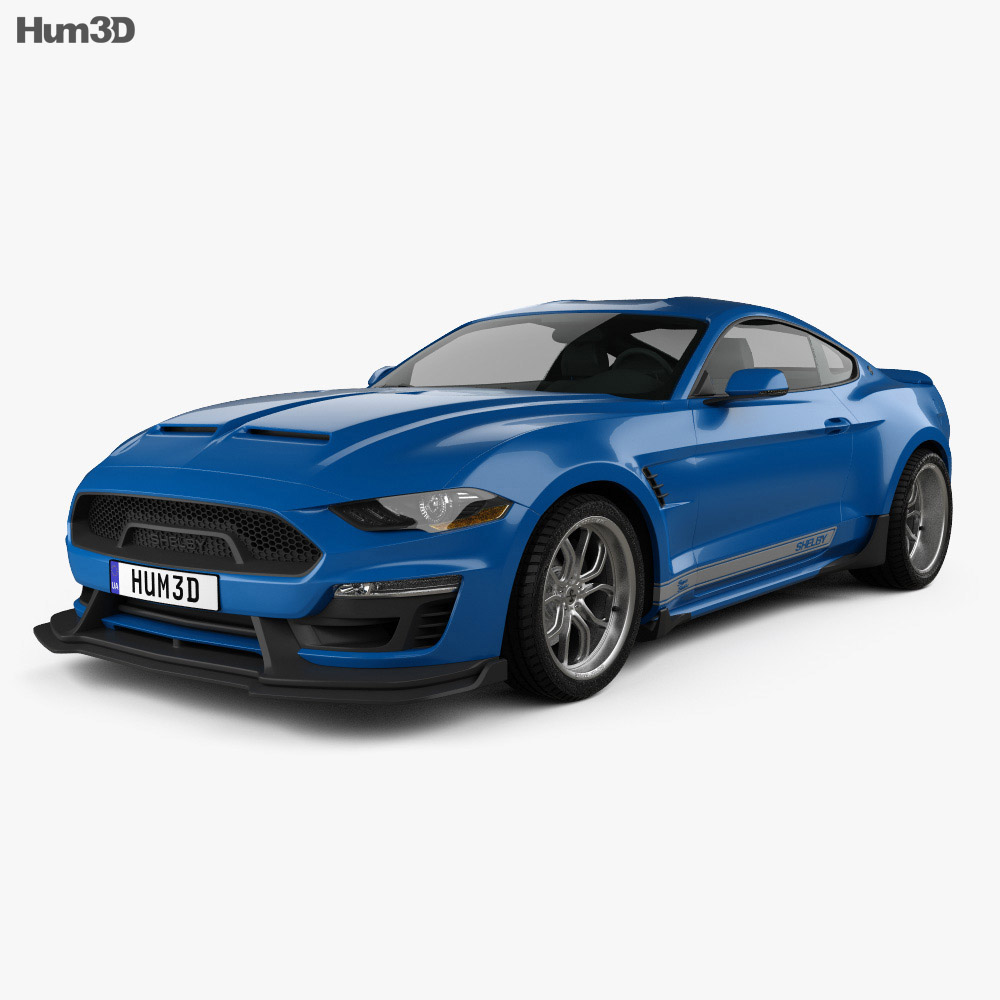 ford mustang shelby super snake coupe 2018 3d model vehicles on hum3d. Black Bedroom Furniture Sets. Home Design Ideas