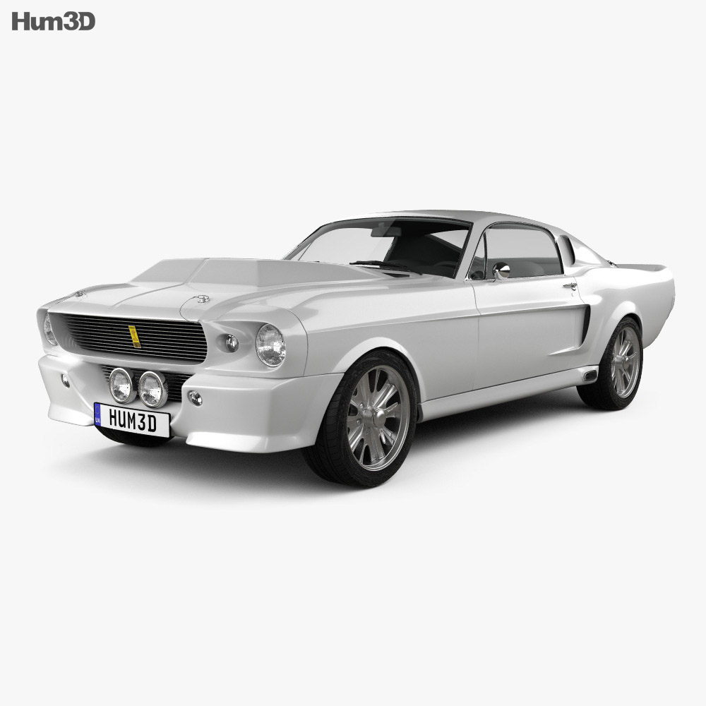 ford mustang shelby gt500 eleanor 1967 3d model vehicles. Black Bedroom Furniture Sets. Home Design Ideas