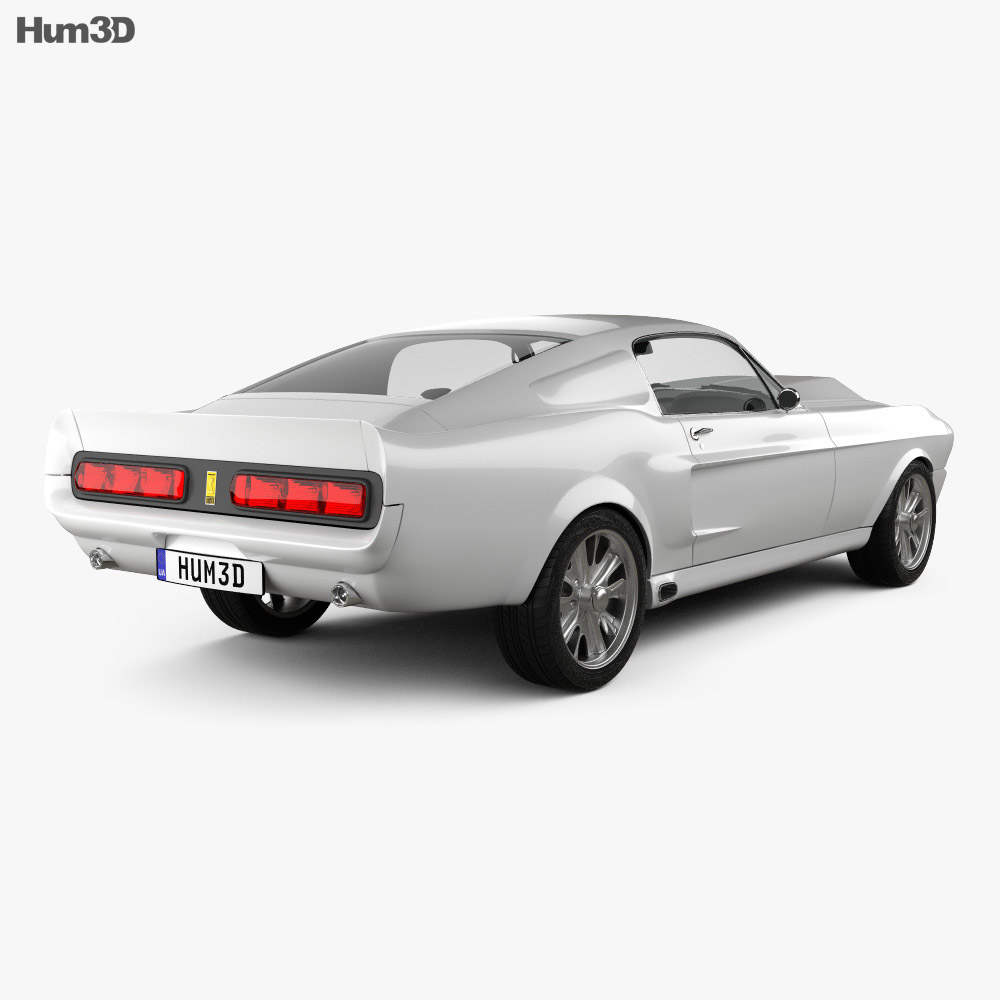 Ford Mustang Shelby GT500 Eleanor 1967 3d model back view