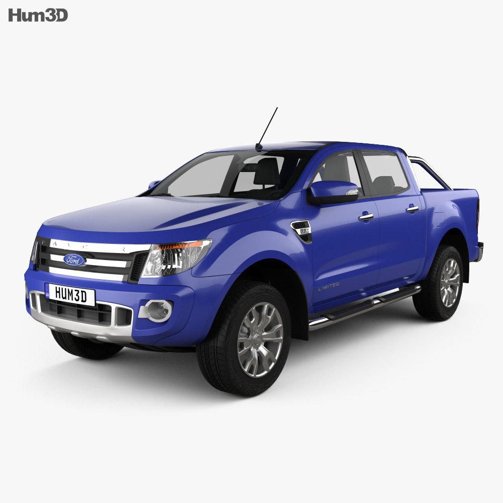 Ford Ranger (T6) 2011 3d model