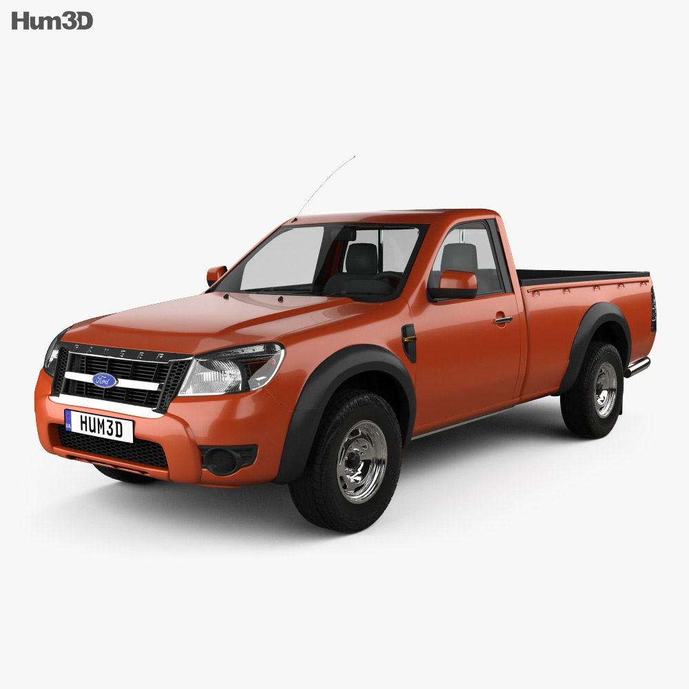 ford ranger regular cab 2009 3d model hum3d. Black Bedroom Furniture Sets. Home Design Ideas