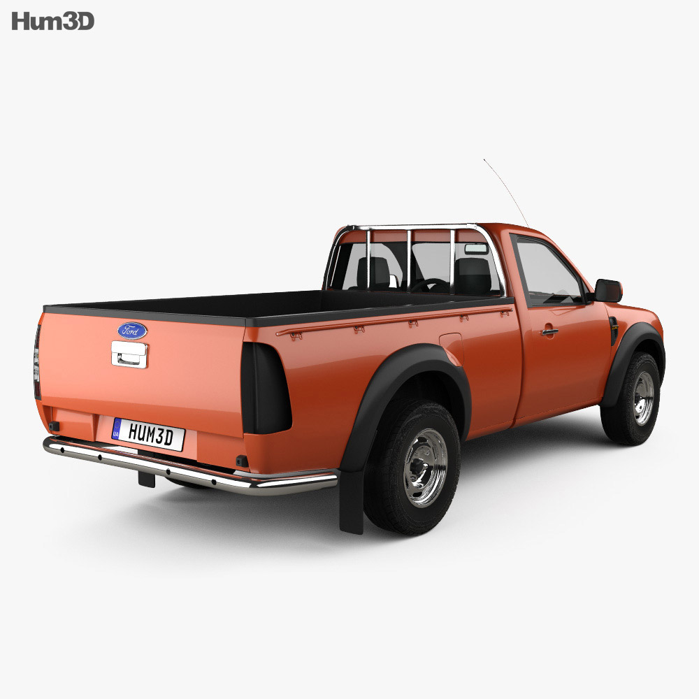 ford ranger regular cab 2009 3d model humster3d. Black Bedroom Furniture Sets. Home Design Ideas