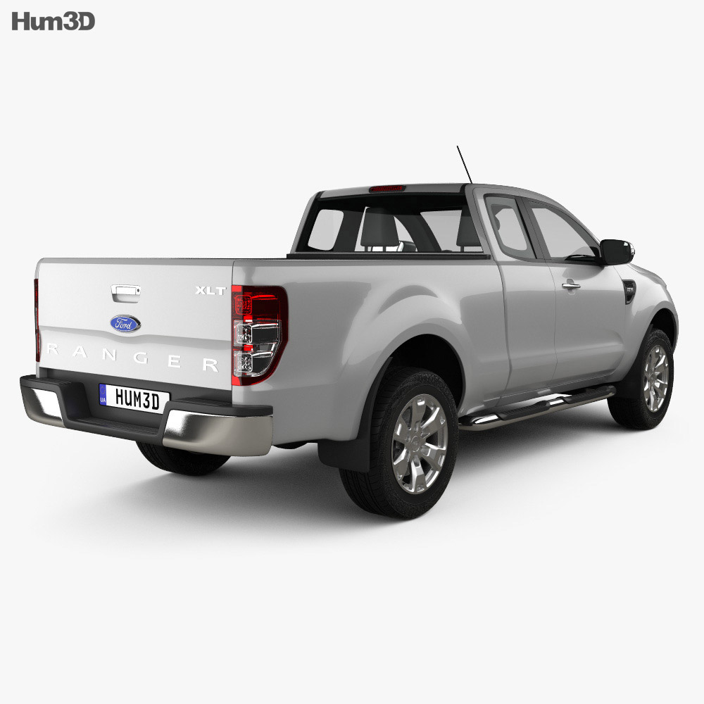 Ford Ranger Super Cab 2011 3d model