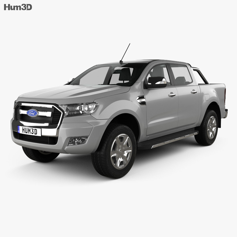 ford ranger double cab 2015 3d model hum3d. Black Bedroom Furniture Sets. Home Design Ideas