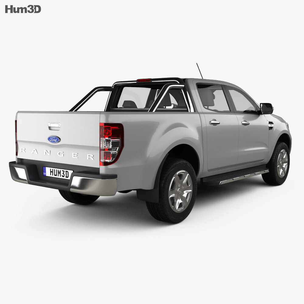 ford ranger double cab 2015 3d model humster3d. Black Bedroom Furniture Sets. Home Design Ideas