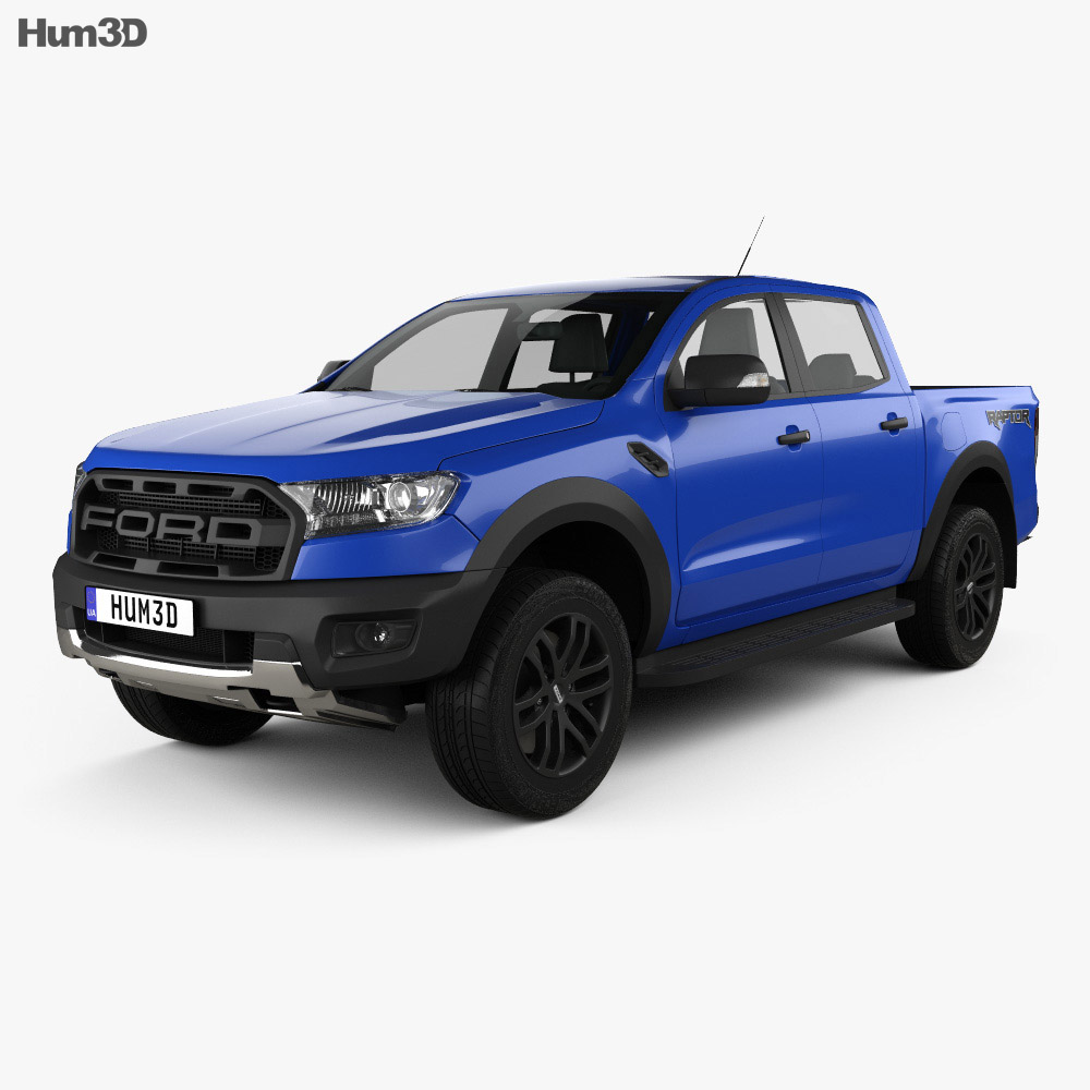 ford ranger double cab raptor 2018 3d model vehicles on hum3d. Black Bedroom Furniture Sets. Home Design Ideas