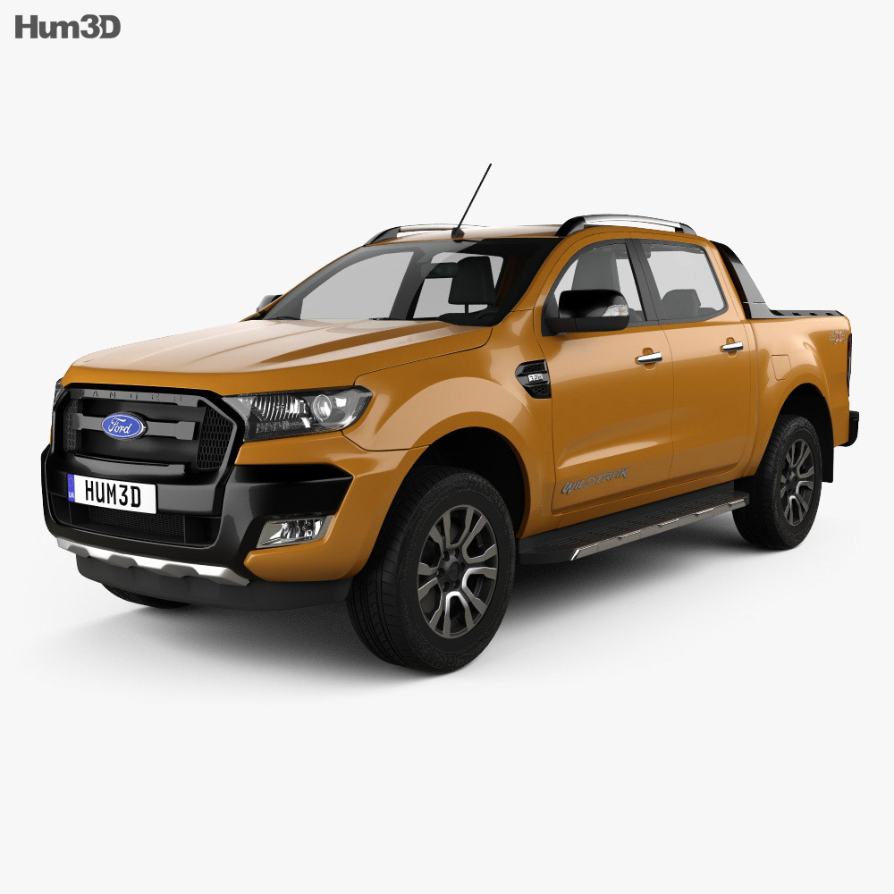 ford ranger double cab wildtrak 2016 3d model vehicles. Black Bedroom Furniture Sets. Home Design Ideas