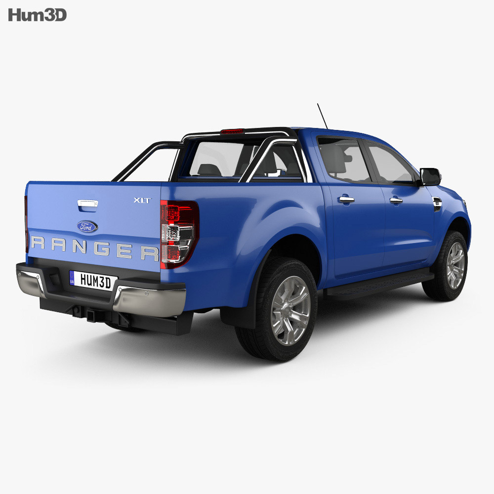 Ford Ranger Double Cab XLT 2018 3d model