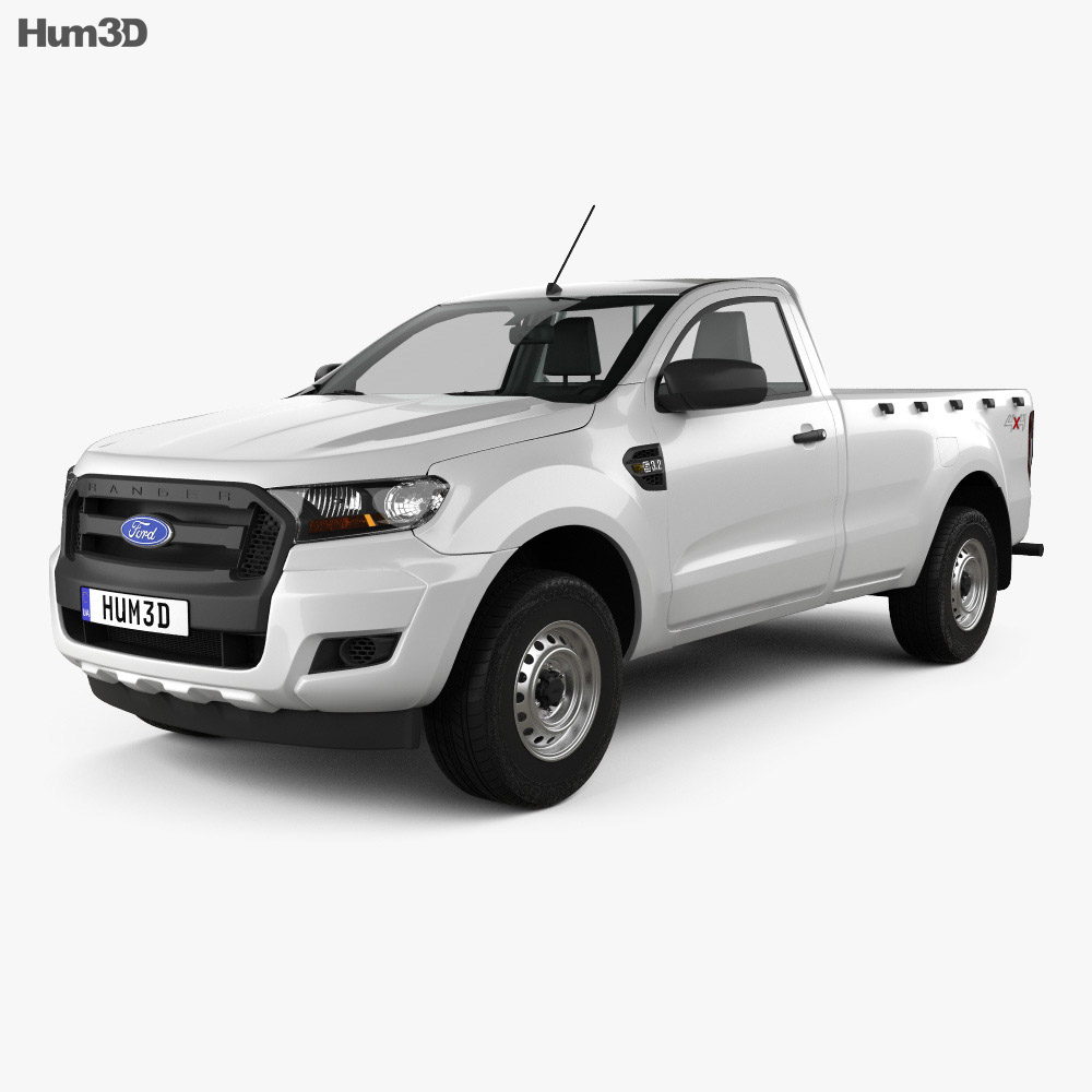 Ford Ranger Single Cab XL 2015 3d model