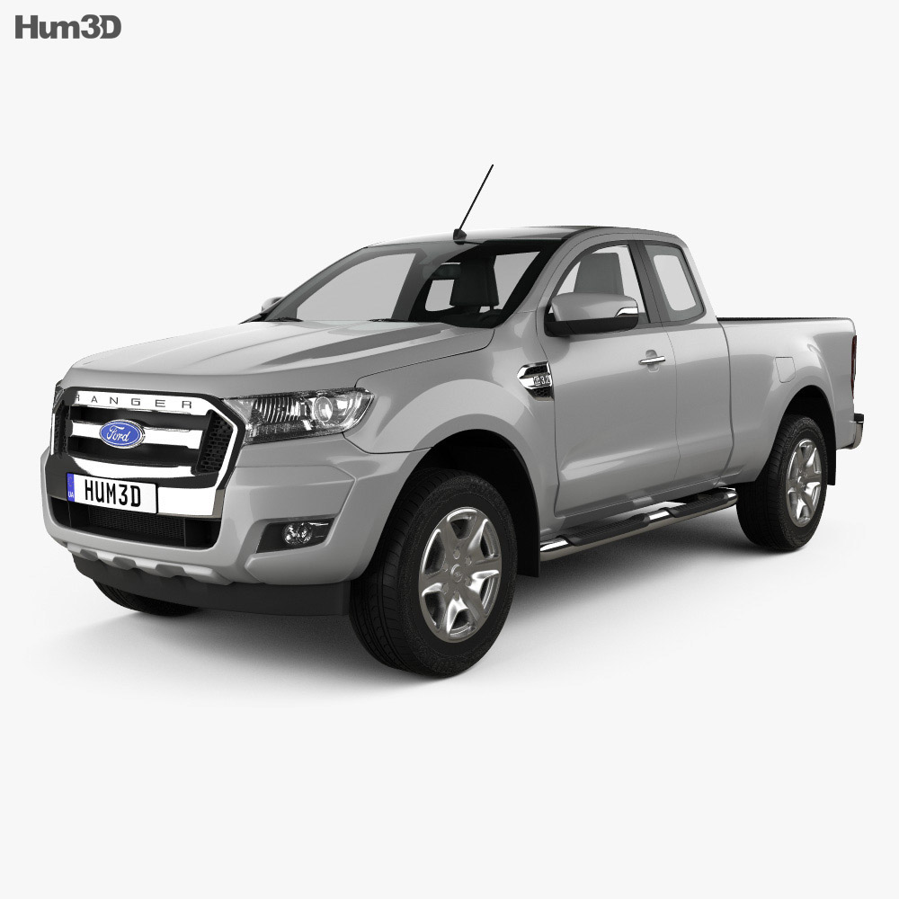 ford ranger super cab xlt 2015 3d model hum3d. Black Bedroom Furniture Sets. Home Design Ideas