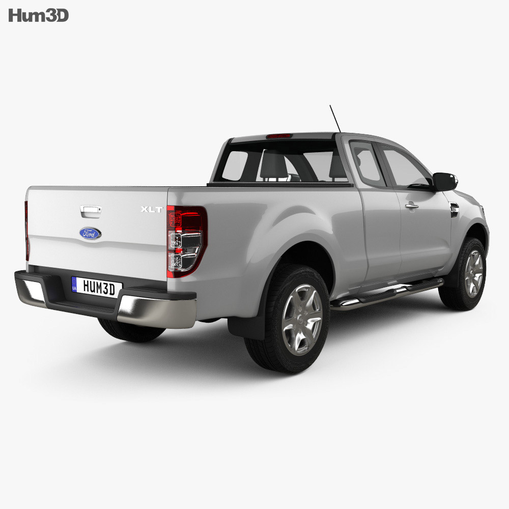ford ranger super cab xlt 2015 3d model humster3d. Black Bedroom Furniture Sets. Home Design Ideas
