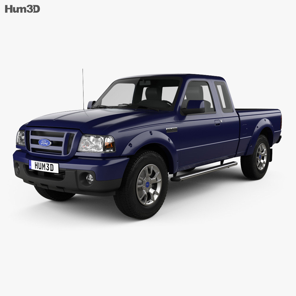 ford ranger na extended cab 2008 3d model hum3d. Black Bedroom Furniture Sets. Home Design Ideas