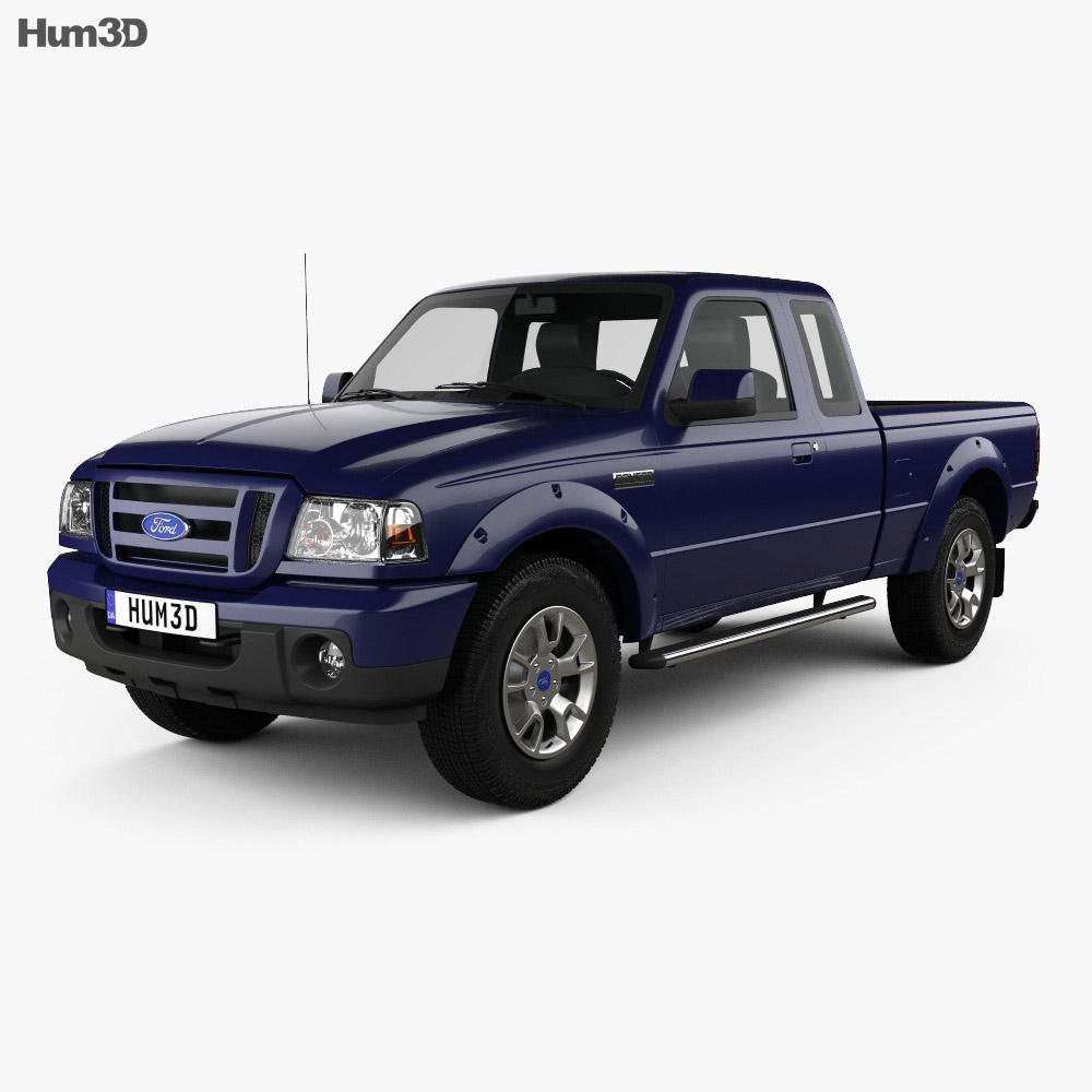 Ford Ranger (NA) Extended Cab 2008 3d model