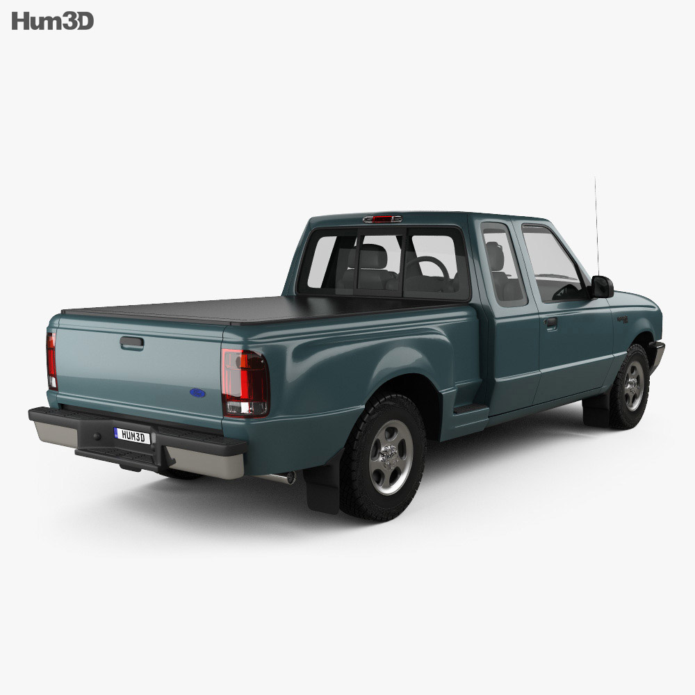 Ford Ranger (NA) Extended Cab Flare Side XLT 1998 3d model