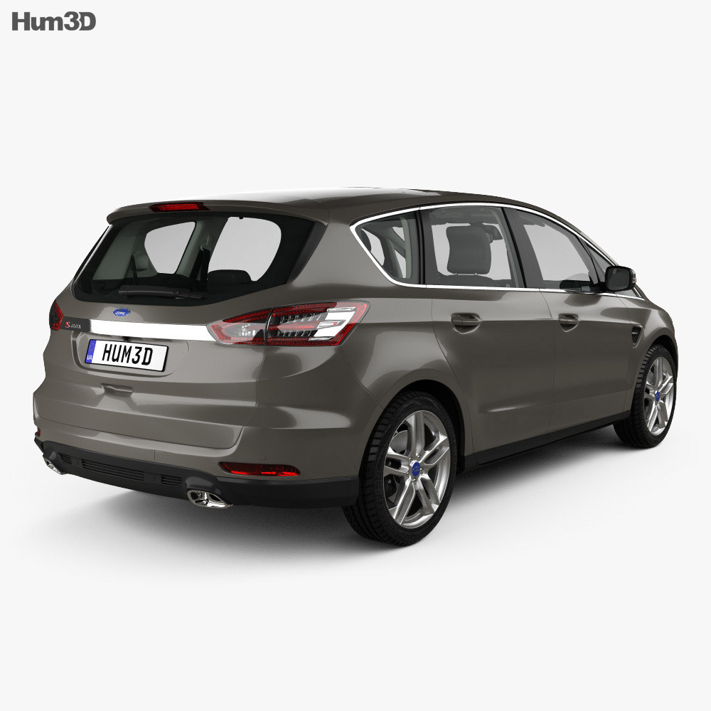 Ford S-MAX with HQ interior 2015 3D model - Hum3D