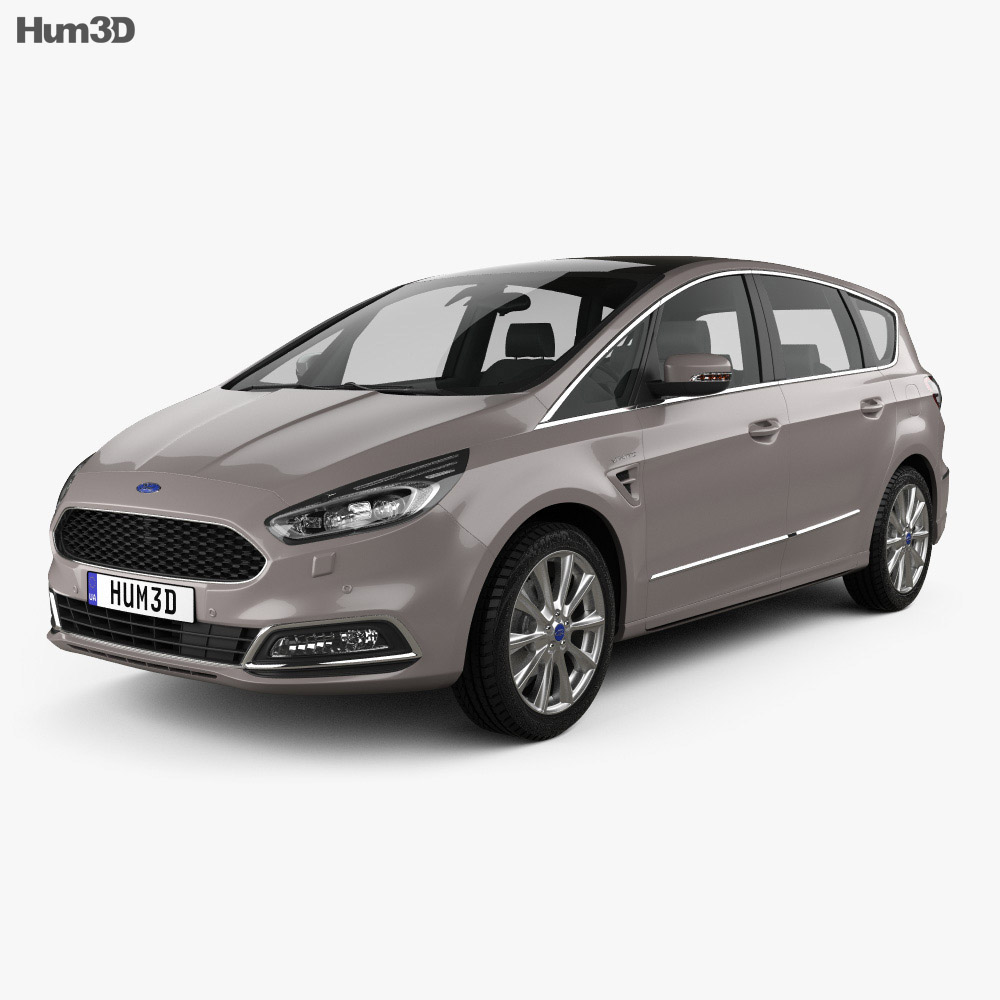 ford s max vignale 2016 3d model vehicles on hum3d. Black Bedroom Furniture Sets. Home Design Ideas