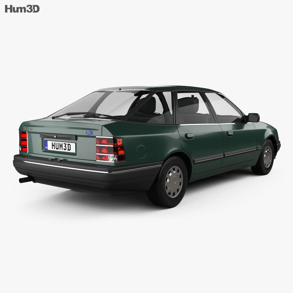 Ford Scorpio hatchback 1985 3d model