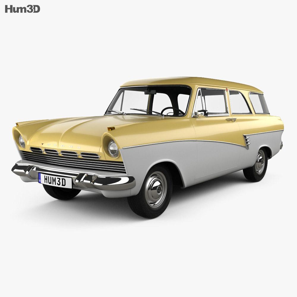 Ford Taunus P2 17M kombi 1957 3d model
