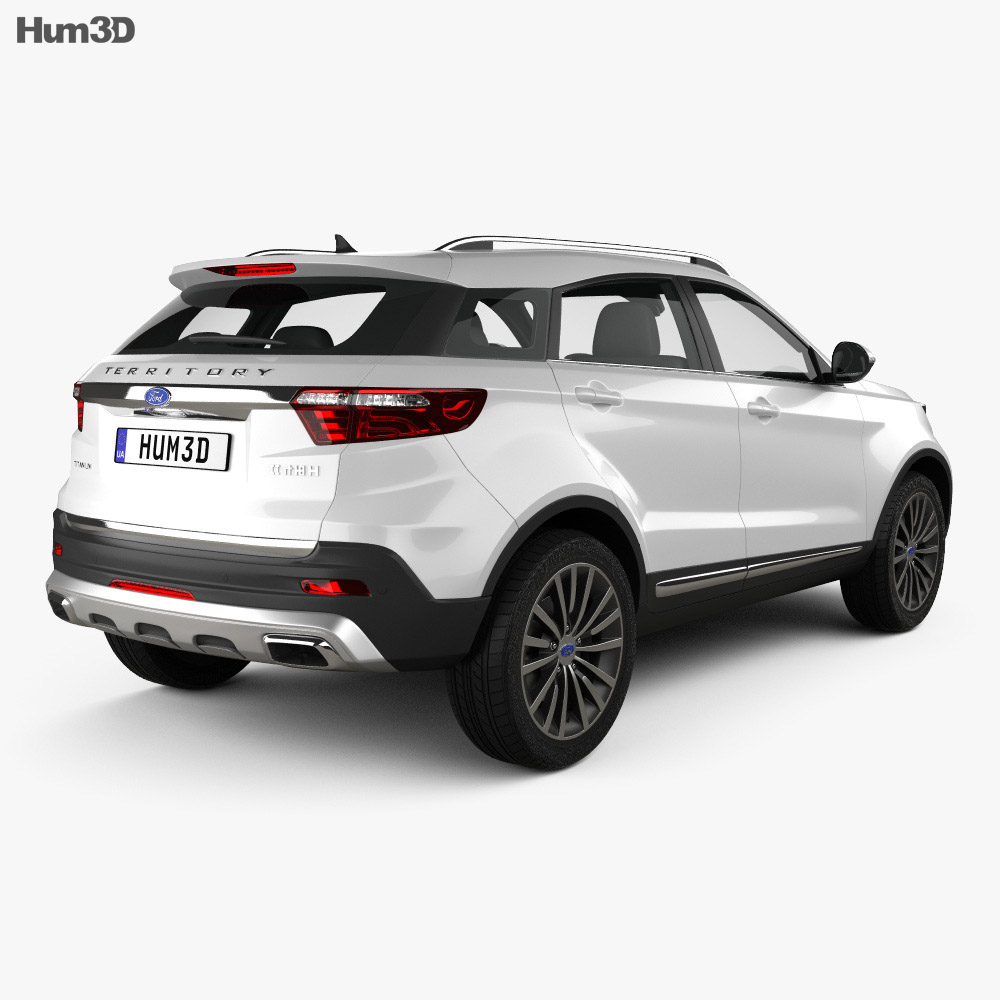 Ford Territory CN-spec 2019 3d model back view