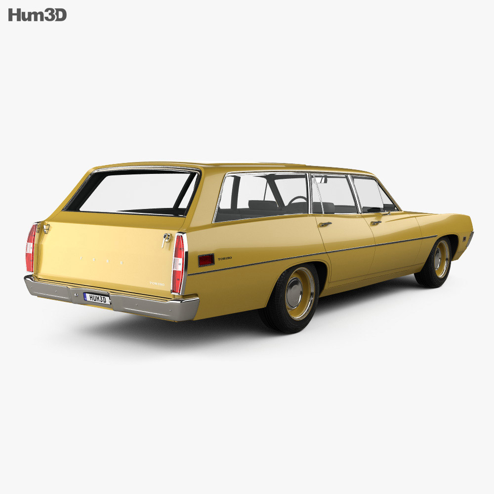 Ford Torino 500 Station Wagon 1971 3d model