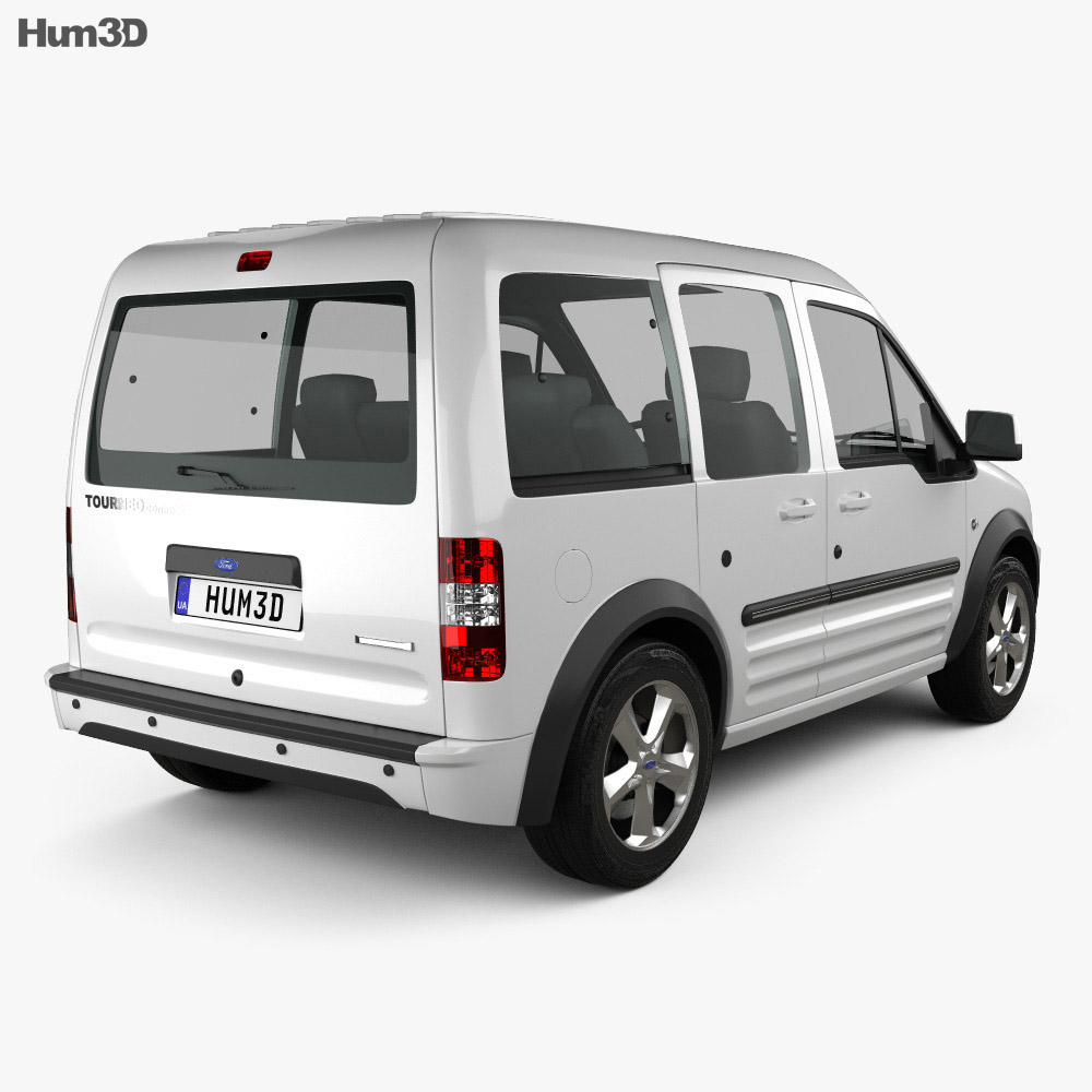 Ford Tourneo Connect LWB 2012 3d model