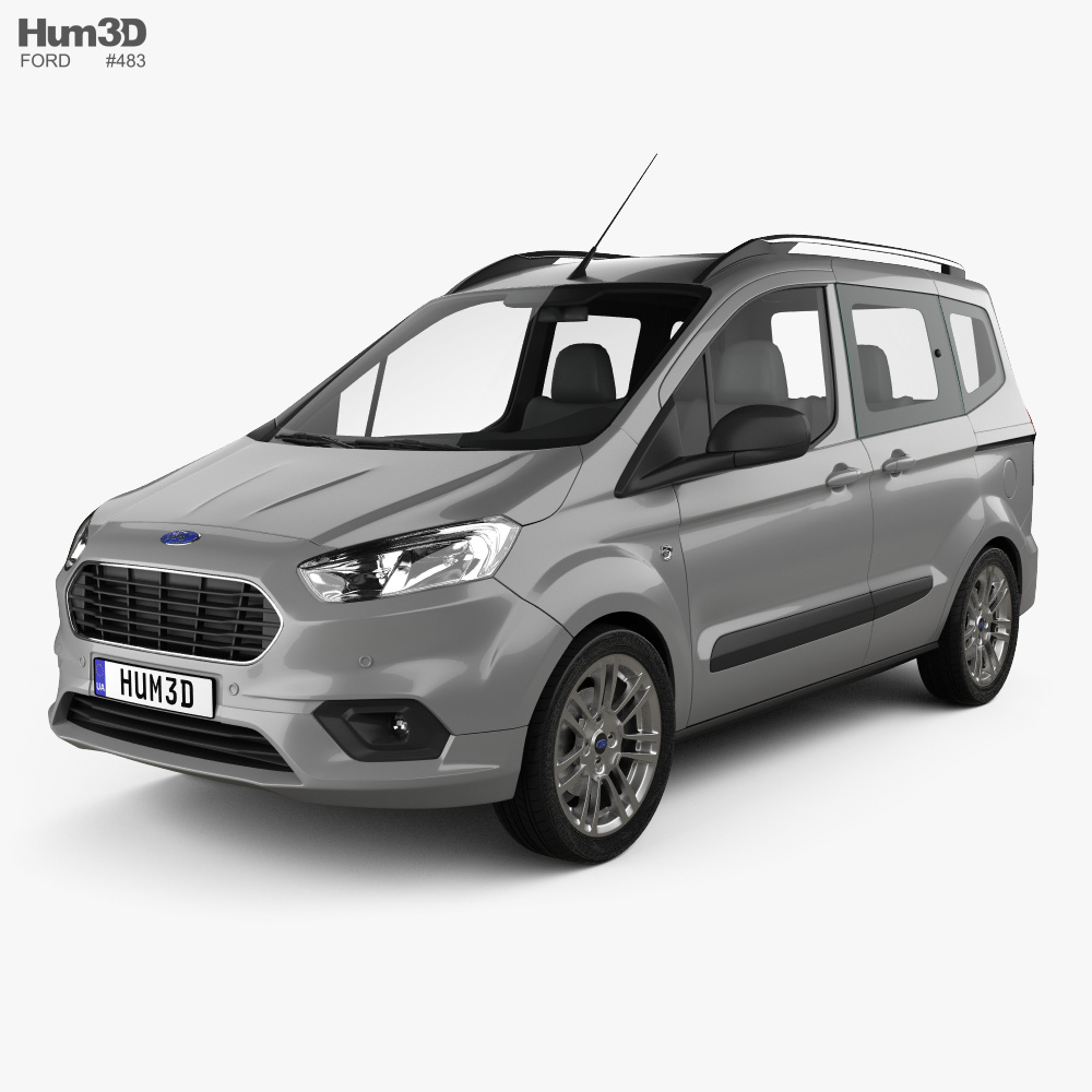Ford Tourneo Courier 2018 3d Model Vehicles On Hum3d