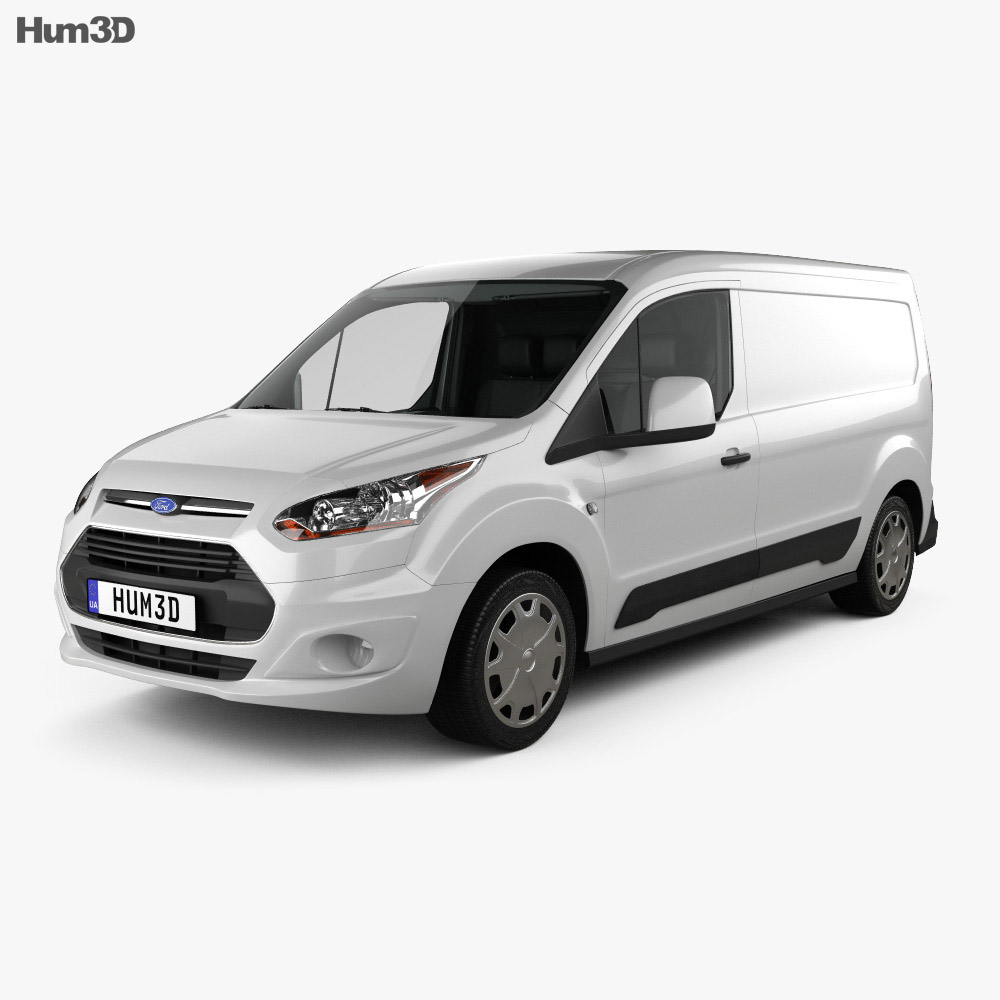 Ford Transit Connect LWB with HQ interior 2014 3d model