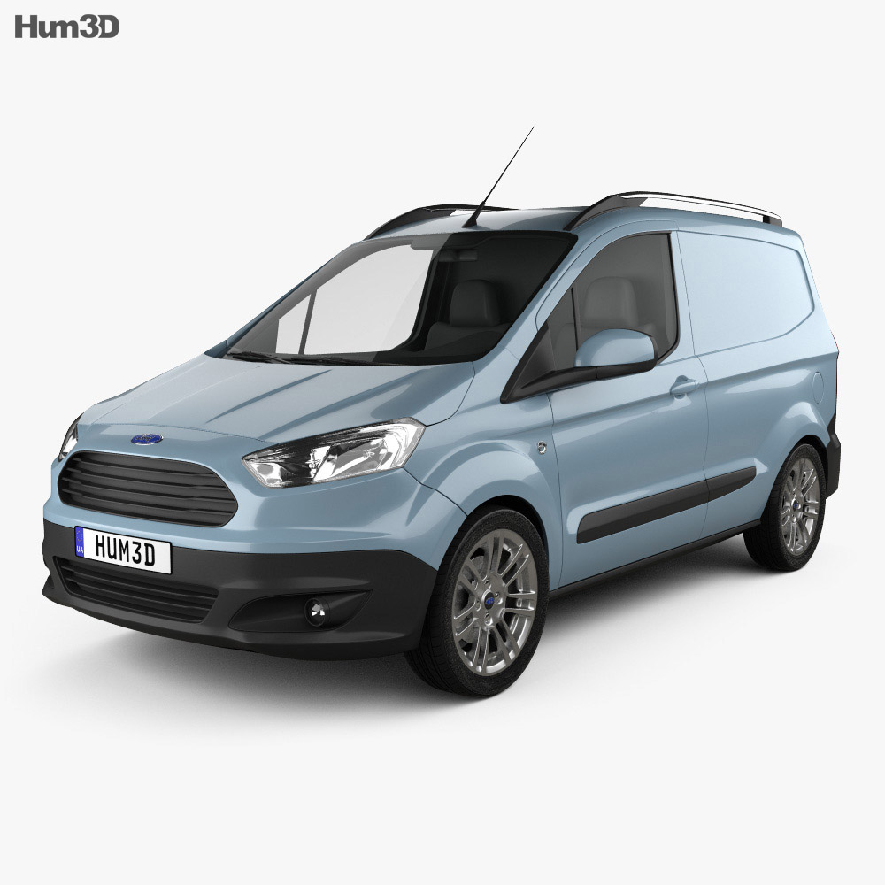 ford transit courier 2015 3d model humster3d. Black Bedroom Furniture Sets. Home Design Ideas
