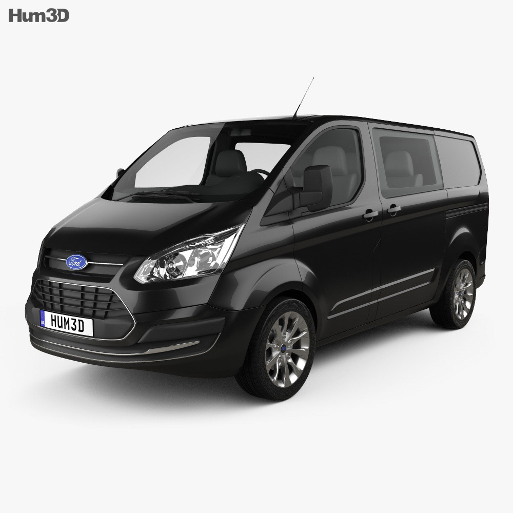 ford transit custom crew van swb 2013 3d model vehicles on hum3d. Black Bedroom Furniture Sets. Home Design Ideas