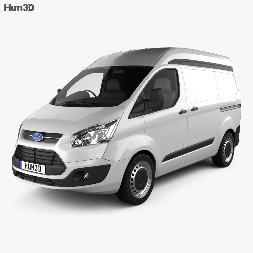 Ford Transit Custom Panel Van L1H2 2012 3d model