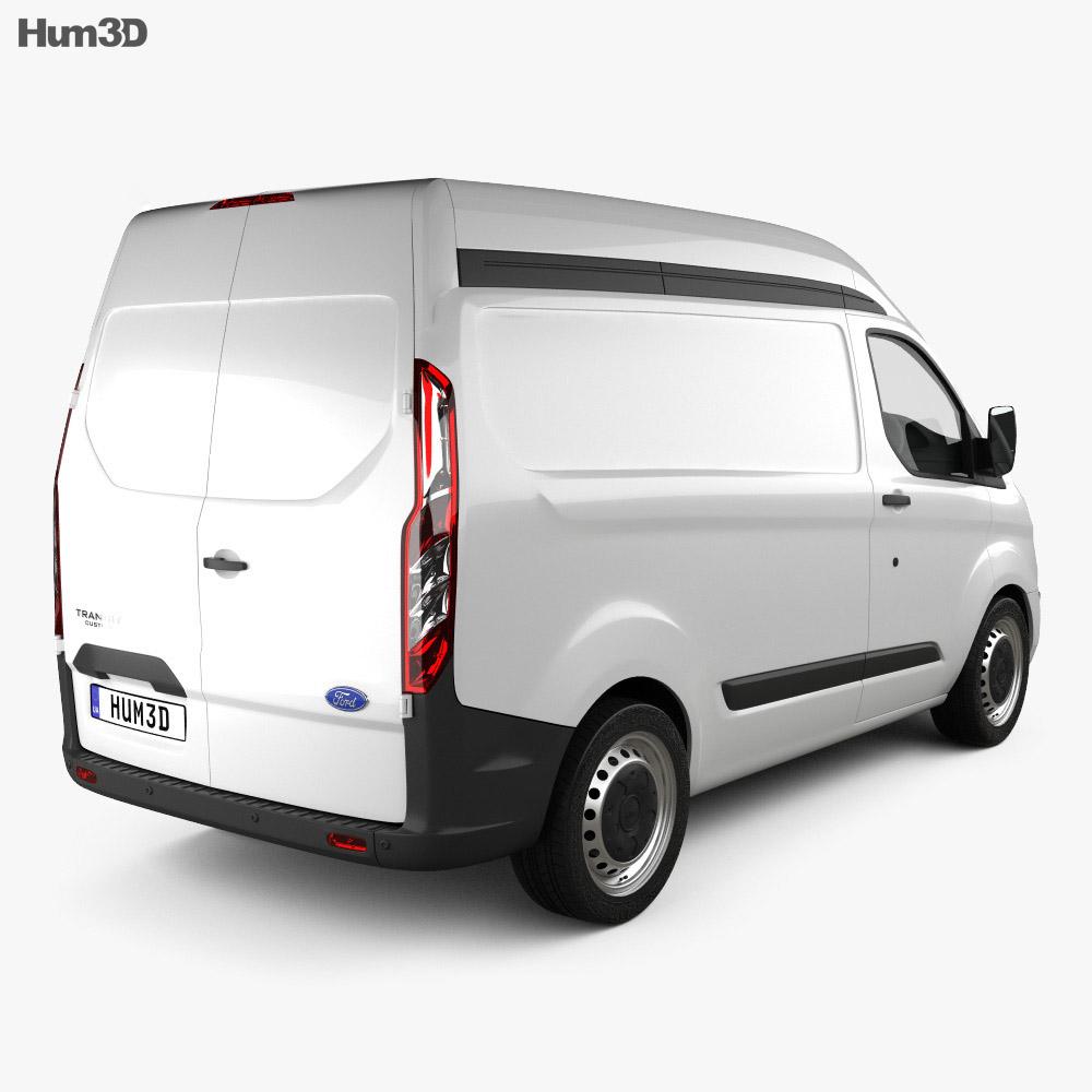 Ford Transit Custom Panel Van L1H2 2012 3d model back view