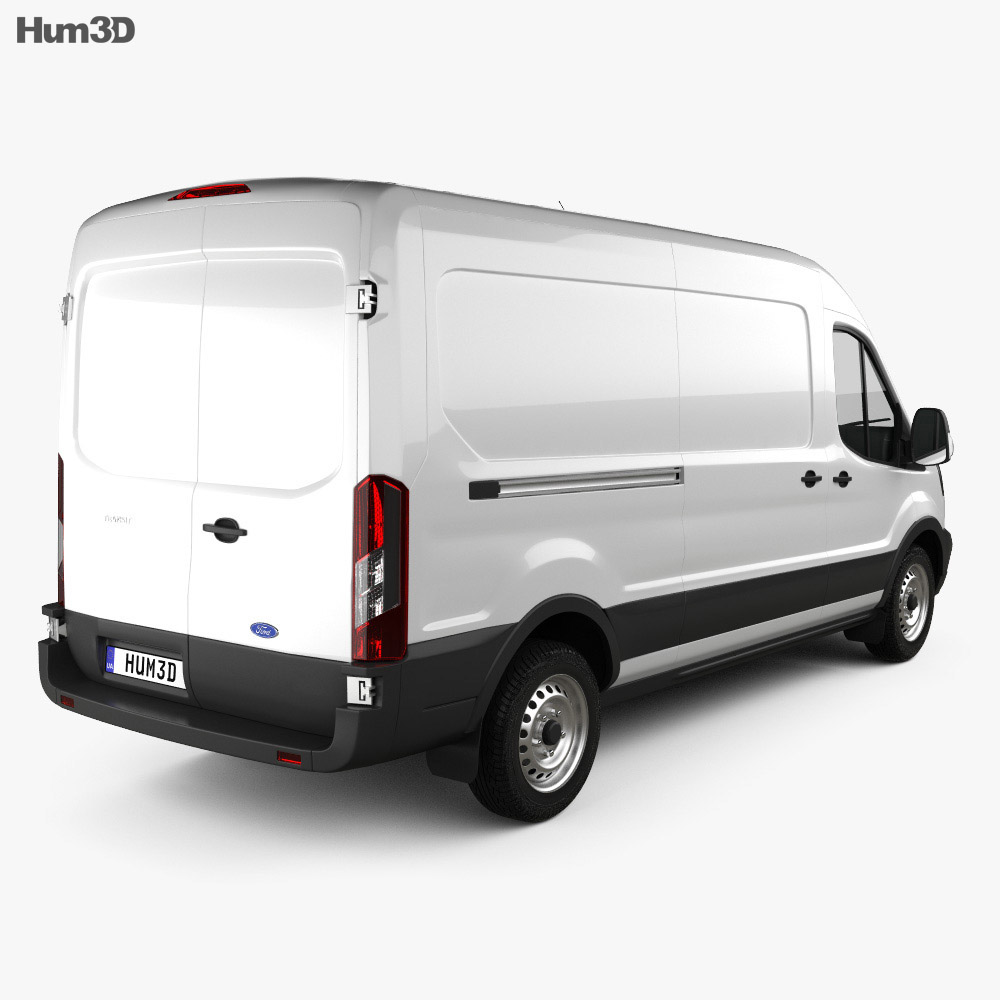 Ford Transit Panel Van LWB 2012 3d model