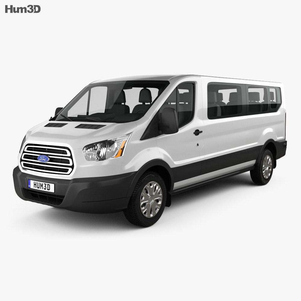 Ford transit passenger van l2h1 2012 3d model