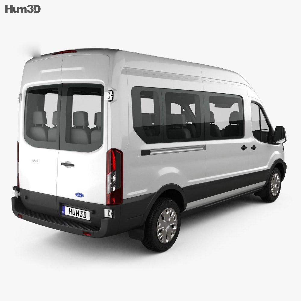 Ford Transit Passenger Van L2H3 2012 3d model
