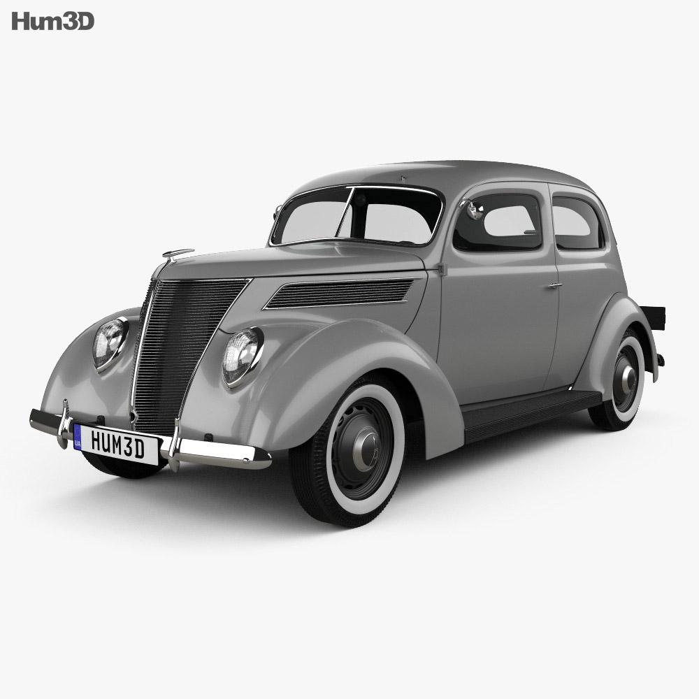 Ford V8 Model 78 Standard 78 700a Tudor Sedan 1937 3d