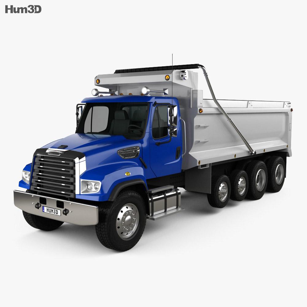 3D model of Freightliner 114SD Dump Truck 2011