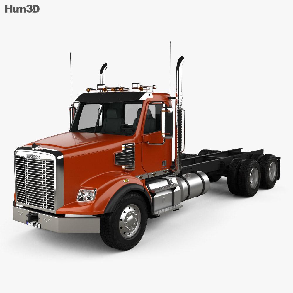 Freightliner Coronado SD Chassis Truck 2009 3d model