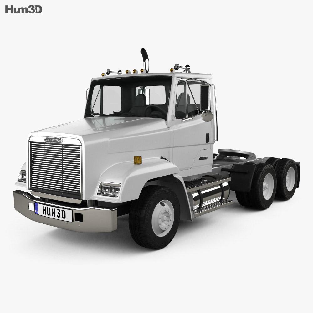 Freightliner FLC112 Tractor Truck 3-axle 1987 3d model