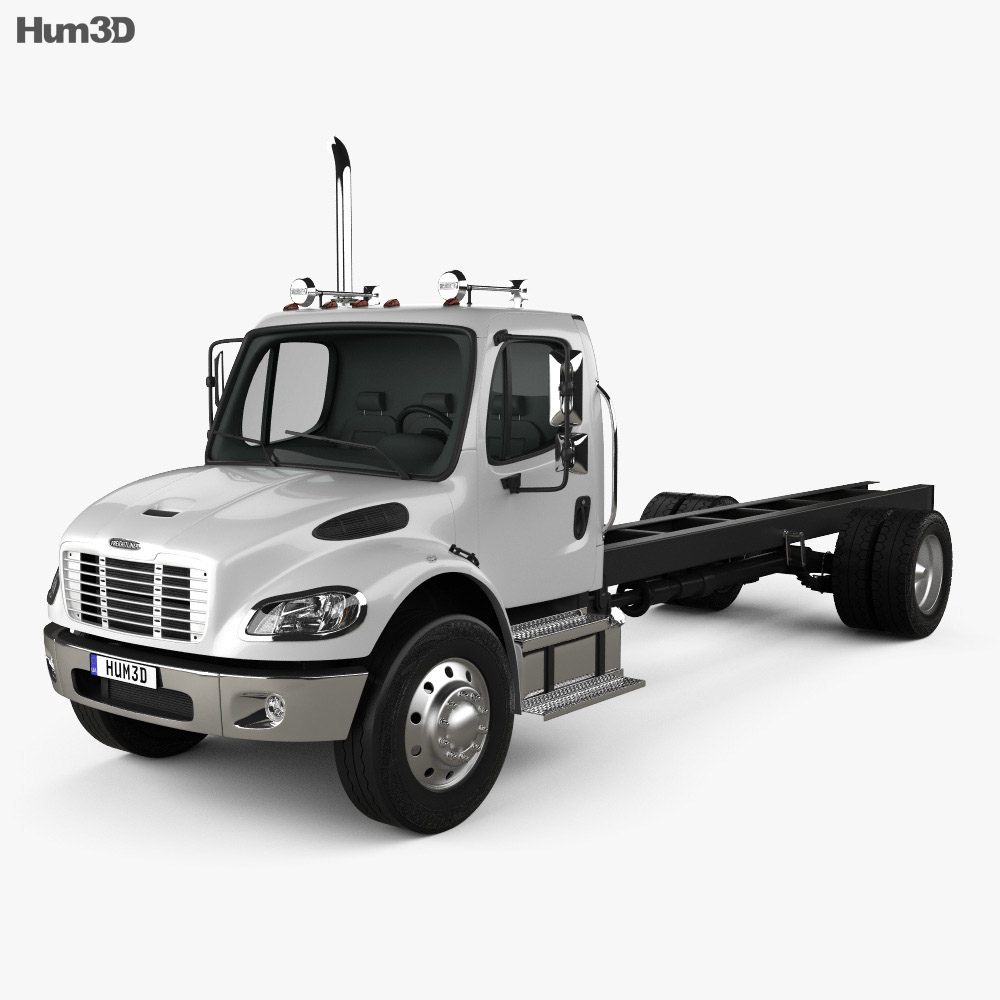 Freightliner M2 106 Day Cab Chassis Truck 2014 3d model
