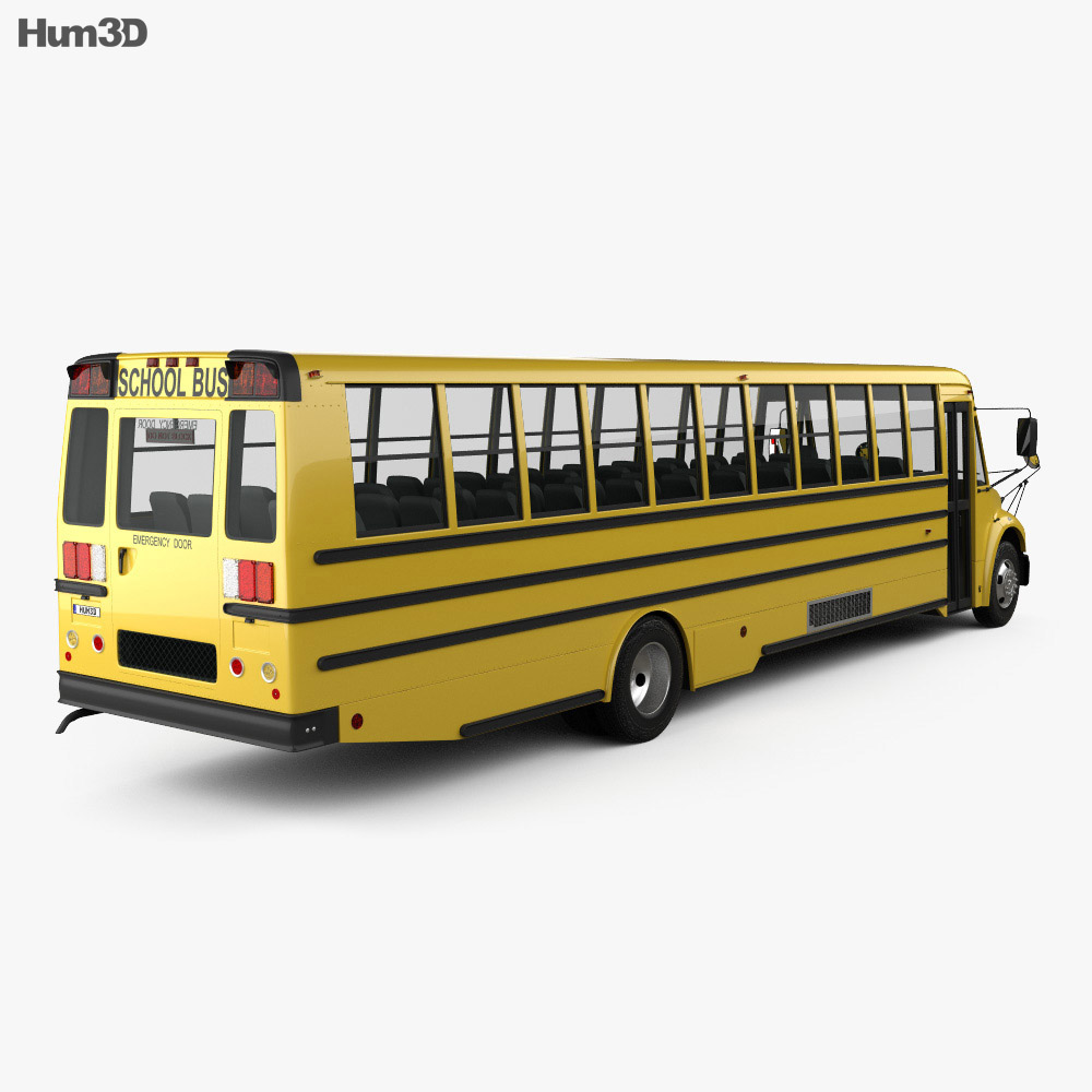 Thomas Saf-T-Liner C2 School Bus 2012 3d model