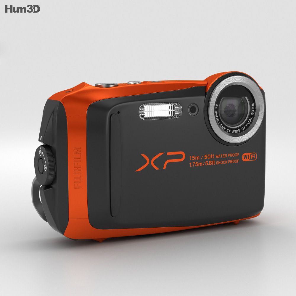 Fujifilm FinePix XP90 Orange 3d model