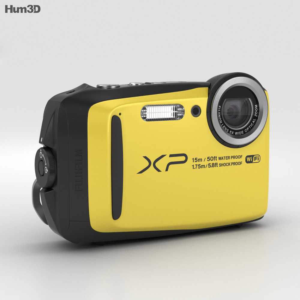 Fujifilm FinePix XP90 Yellow 3d model