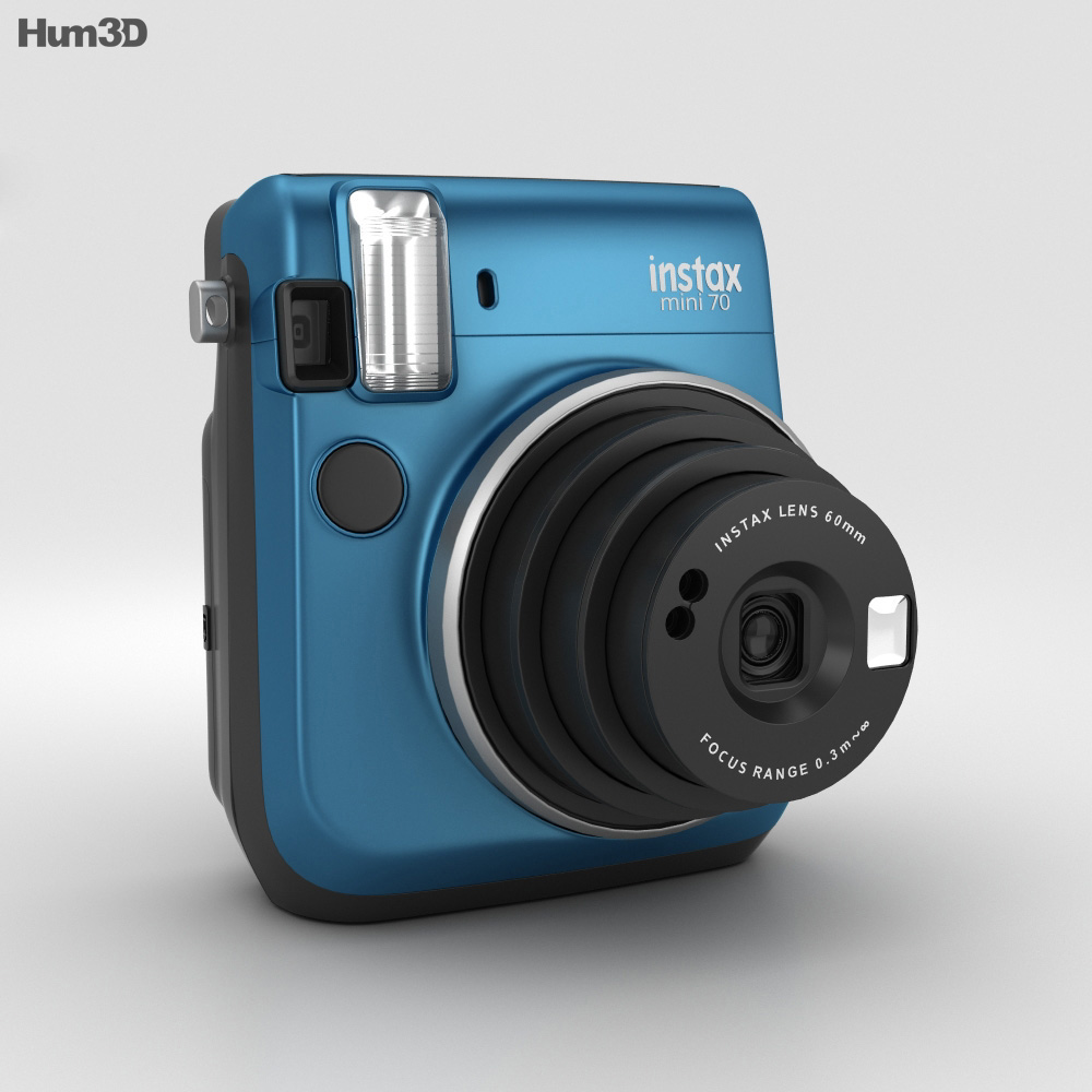 Fujifilm instax mini 70 blue 3d model hum3d for Housse instax mini 70